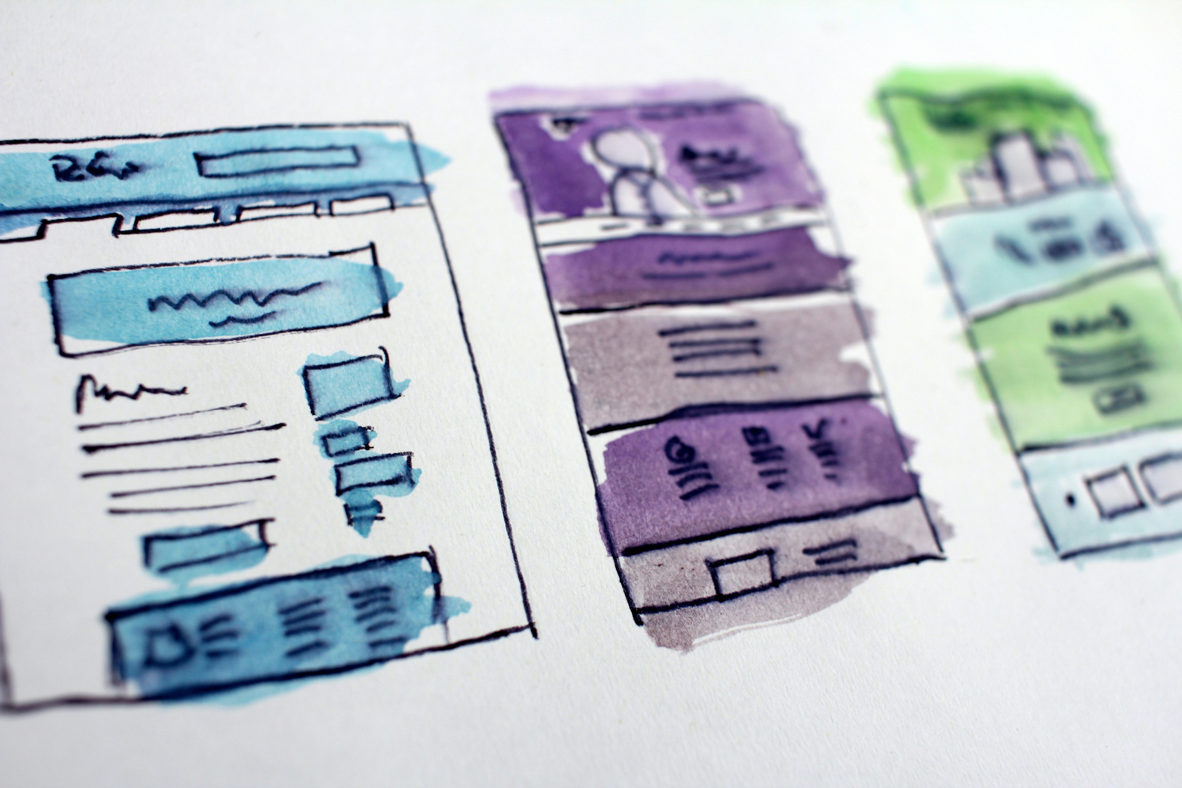 Illustration of Site Map and Wireframe